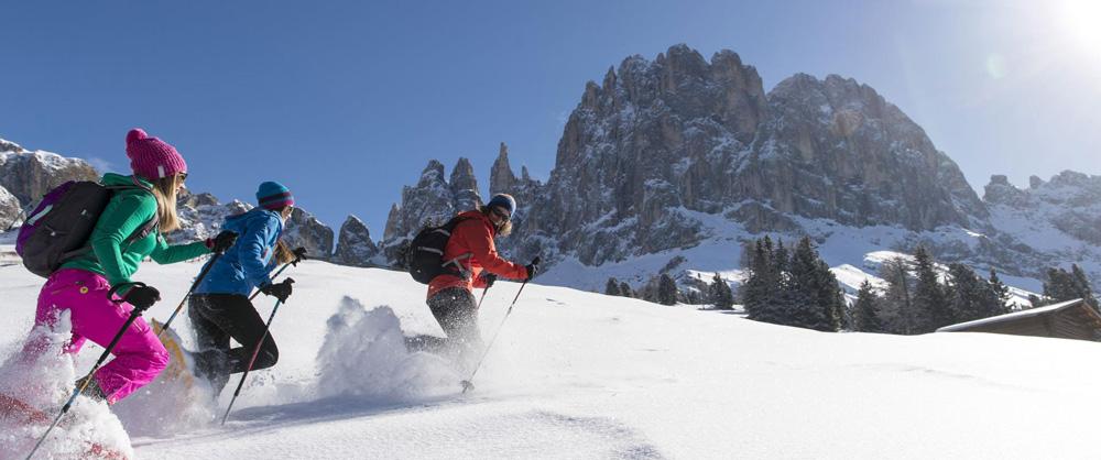Schneeschuhwandern auf der Seiser Alm // Foto: Seiser Alm