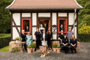 The restored blacksmith's house accommodates the hotel reception