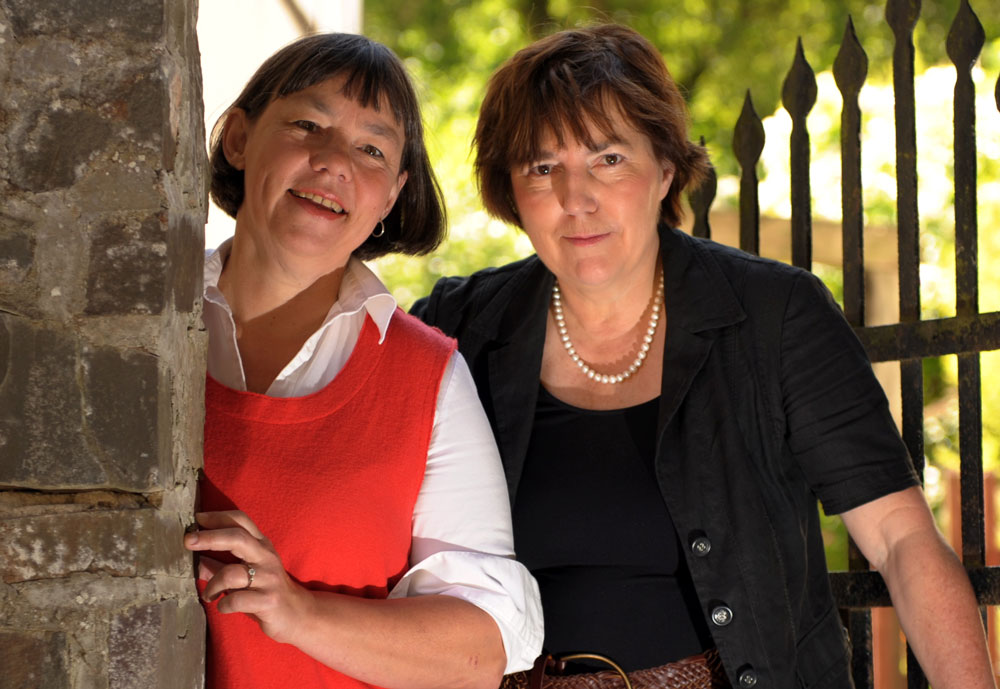 Builder and hosts Bettina (left) and Christiane Kohl