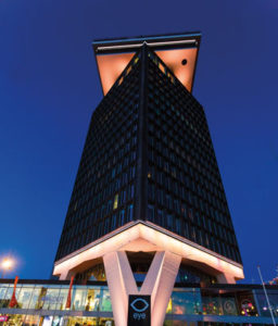 The lookout of the A'DAM Tower is 100 m high