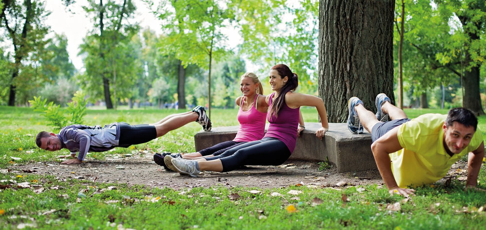 Fresh air, training in a group – that's motivating!