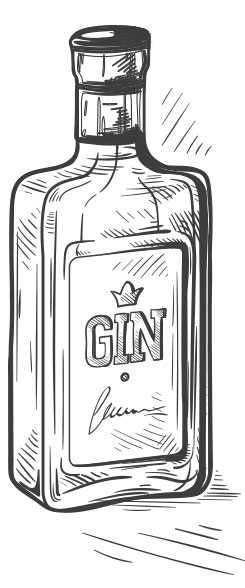 Gin is produced as a distillate of juniper berries since about the 17th century
