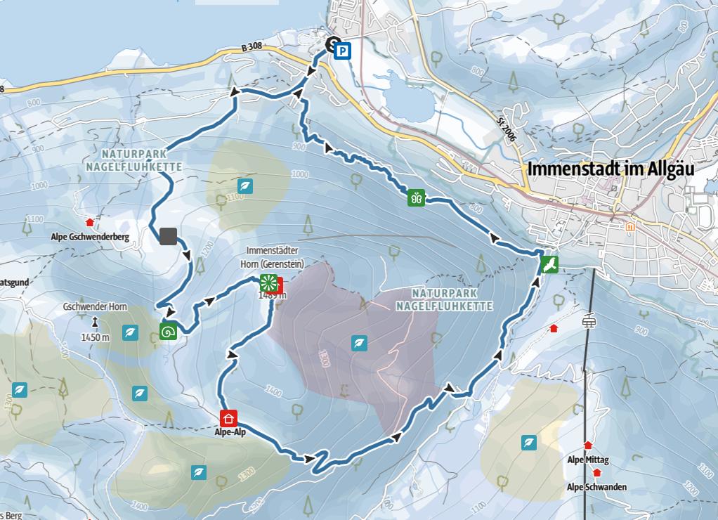 Panoramic tour with a view of the Allgäu mountains