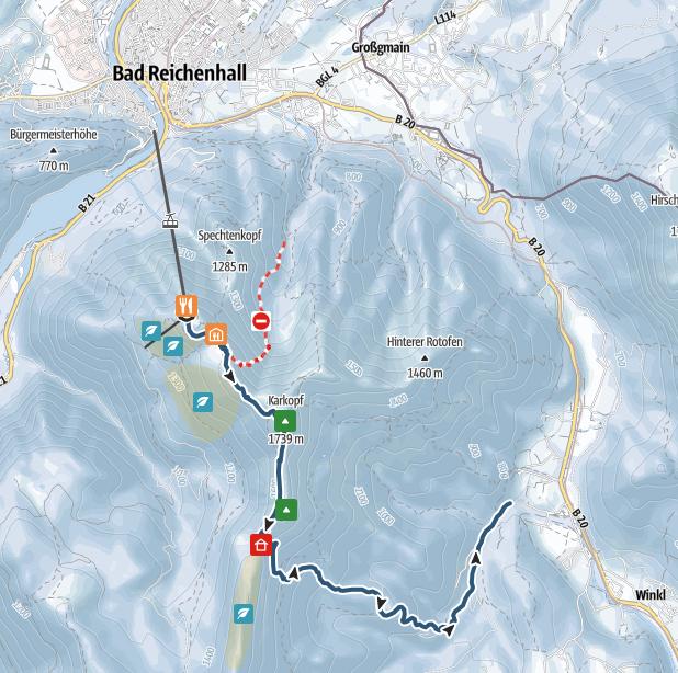 Berchtesgadener Land: From Bad Reichenhall over the Lattengebirg