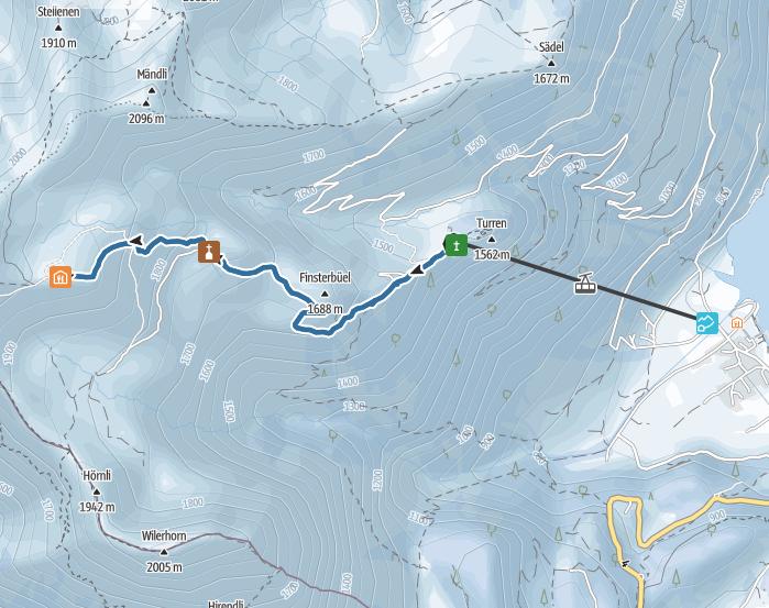 Central Switzerland: popular snowshoe hike