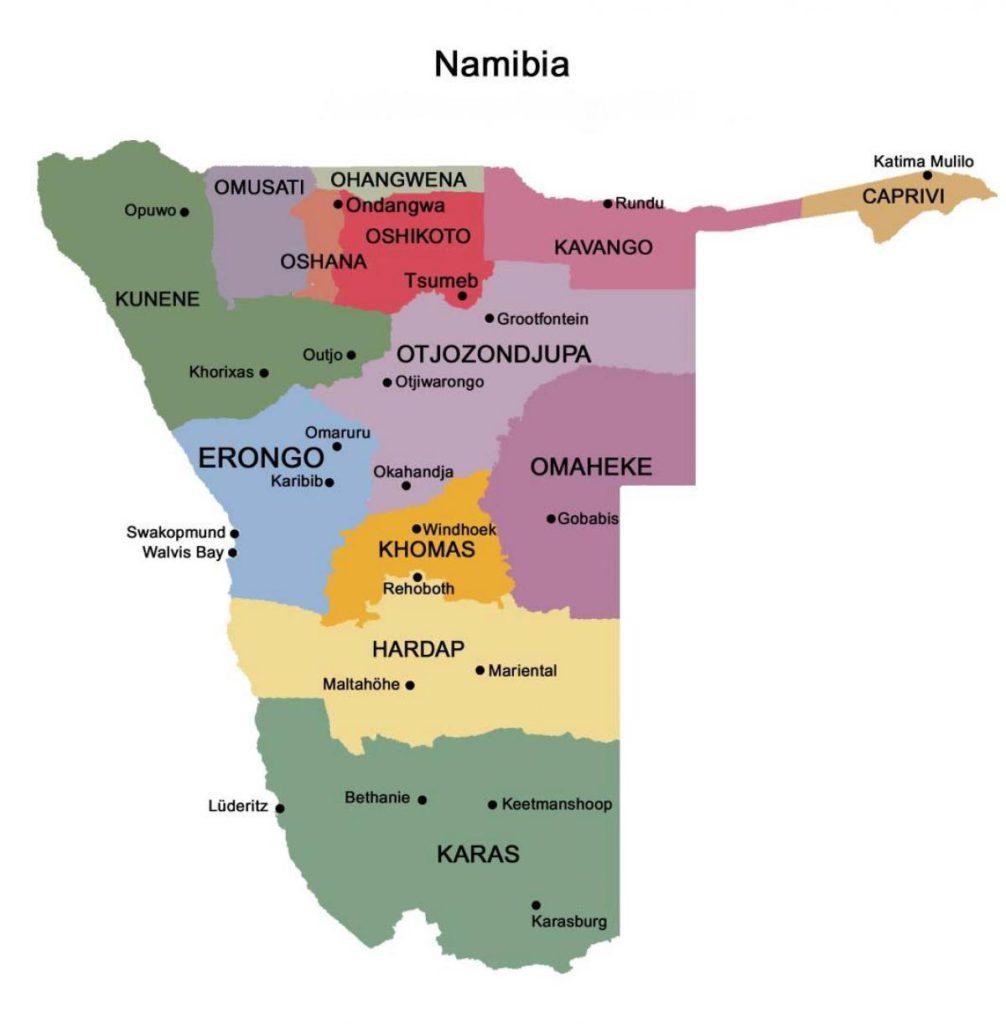 Namibia - Regionen