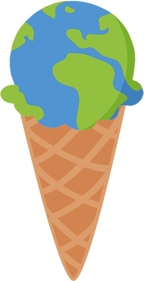 Eis - Weltkugel