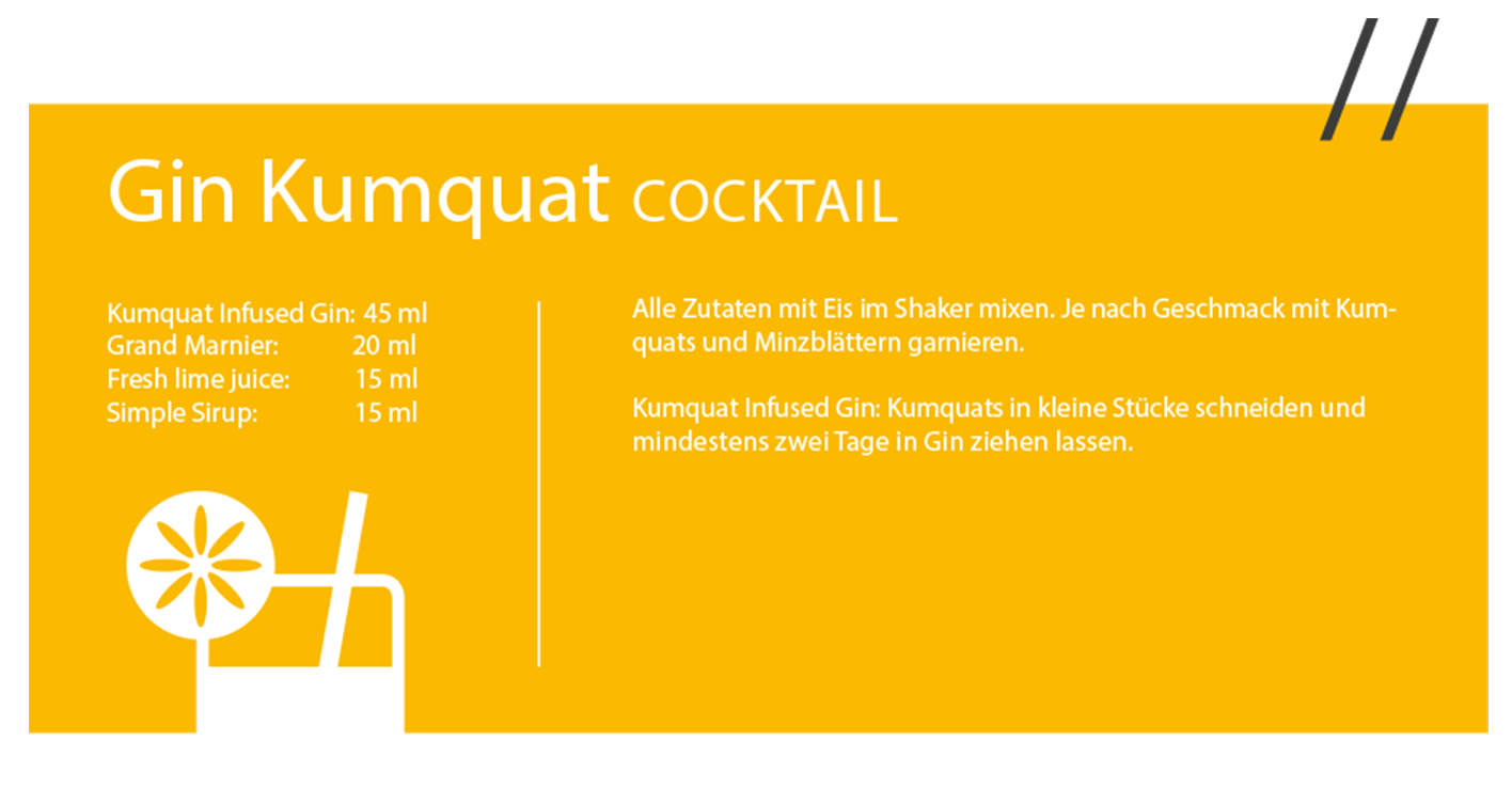Gin Kumquat Cocktail