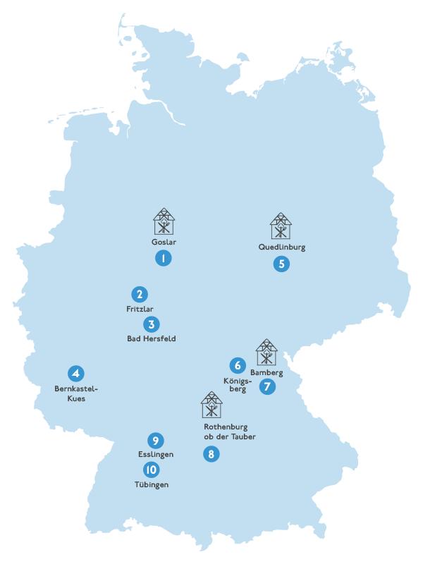 Fachwerkstädte in Deutschland