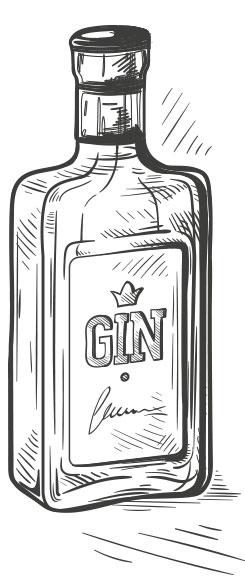 Gin wird als Destillat aus Wacholderbeeren etwa seit dem 17. Jahrhundert hergestellt.