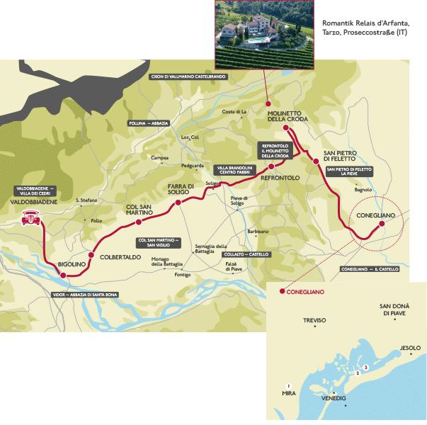 Karte - Prosecco-Straße