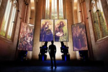 Tag 2 – Mittags zum berühmten Genter Altar der Brüder van Eyck.
